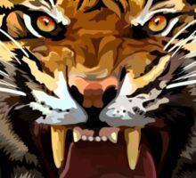 Tiger Roar Digital art Painting Sticker