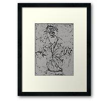 Han Solo Carbonite Framed Print