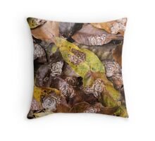 Forest Leaves Throw Pillow