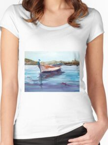 A lonely boat Women's Fitted Scoop T-Shirt