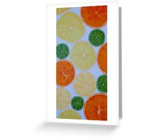 Colours of Citrus Greeting Card