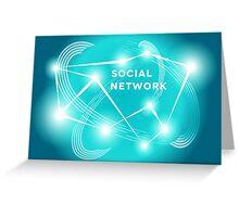 Social Network.  Greeting Card