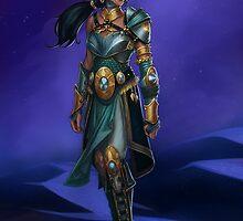 Armored Princess Jasmine by zfischerart