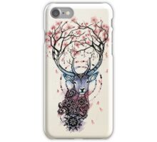 Watercolor Sakura Deer iPhone Case/Skin