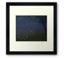 Dusk and mystical field Framed Print