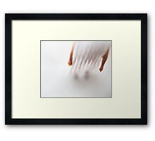 You look good in that curtain Framed Print