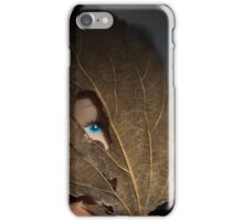 Blue eyed nature girl iPhone Case/Skin