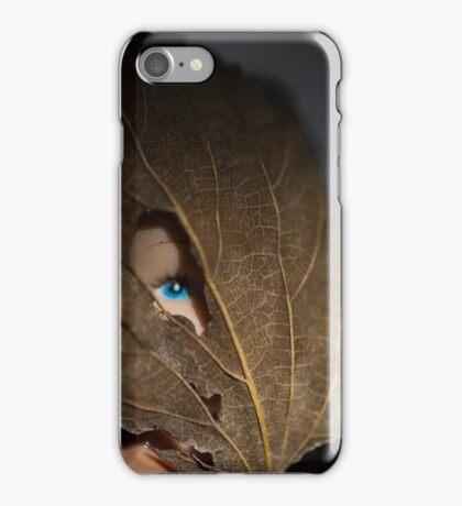 Blue eyed nature girl iPhone Case/Skin