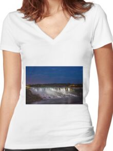 The Falls Women's Fitted V-Neck T-Shirt