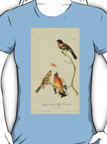 James Audubon Vector Rebuild - The Birds of America - From Drawings Made in the United States and Their Territories V 1-7 1840 - Black Headed Song Grosbeak T-Shirt