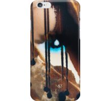 Blue eyes- black tears iPhone Case/Skin