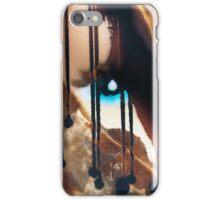 Blue eyes- black tears iPhone Case/Skin