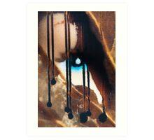 Blue eyes- black tears Art Print