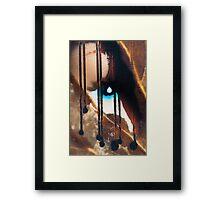 Blue eyes- black tears Framed Print