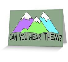 Can You Hear Them? Greeting Card