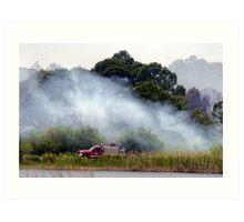Foam 4 at Savannahs Indrio brush fire Art Print