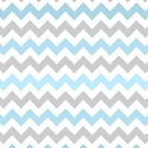 Blue Chevrons by Claire Elford