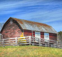 Barn With White Doors by James Brotherton
