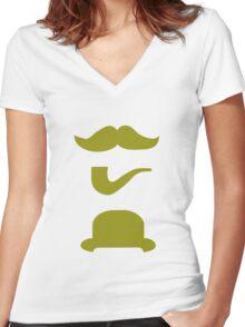 Moneyrunner T-Shirt 3 Women's Fitted V-Neck T-Shirt