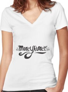 Moneyrunner T-shirt 6 Women's Fitted V-Neck T-Shirt