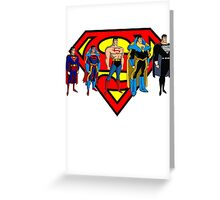 Superman Forms Greeting Card
