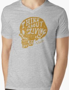 Think About Living Mens V-Neck T-Shirt