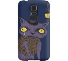 Sad Cat with Moonlight Memories Samsung Galaxy Case/Skin