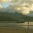 Hanalei Pier At Dusk, Kauai by Stephen Vecchiotti