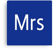 Mrs Adobe Photoshop Themed Canvas Print