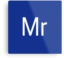 Mr & Mrs Adobe Themed Metal Print