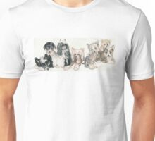 Chinese Crested & Powderpuff Puppies Unisex T-Shirt