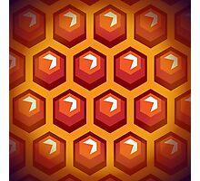 Bee honey cells.  Photographic Print
