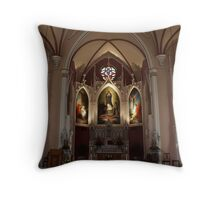 Altar of Immaculata Cathedral Throw Pillow