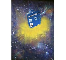 Blue Police Box  Photographic Print
