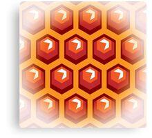 Bee honey cells.  Canvas Print