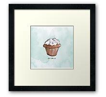 Petit cupcake Framed Print