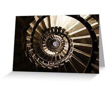 Ammonite Stairs Greeting Card