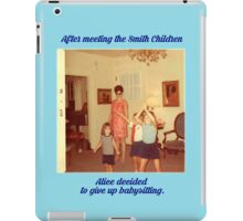 The Babysitter Blues iPad Case/Skin
