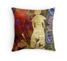 ROSEBUD The Angel of Sweet Songs Throw Pillow