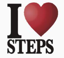 I Heart Steps One Piece - Short Sleeve