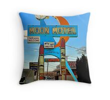 MOON MOTEL Throw Pillow