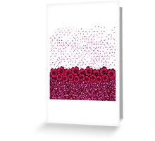 Pretty Pink Flowers Falling Faux Glitter Confetti Greeting Card
