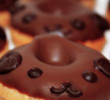 Mini dog donuts Sticker