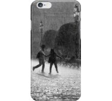 Falling Rain In Mexico - Young Love in The Rain iPhone Case/Skin
