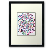 The coloured pattern. Framed Print