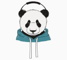 Panda Hipster One Piece - Long Sleeve