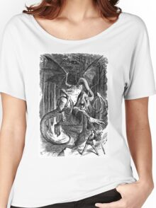 The Jabberwocky - Alice Through The Looking Glass / John Tenniel Women's Relaxed Fit T-Shirt