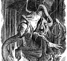 The Jabberwocky - Alice Through The Looking Glass / John Tenniel by verypeculiar