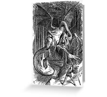 The Jabberwocky - Alice Through The Looking Glass / John Tenniel Greeting Card