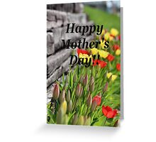 Mother's Day Tulips Greeting Card
